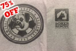 75% OFF - Adopt A Boxer Short-Sleeved Tee in Gray