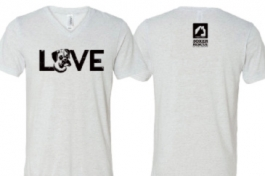 "YOUTH Boxer ""LOVE"" Crew Neck Short-Sleeved Tee"